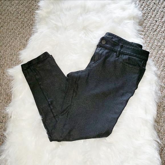 Ann Taylor Factory Pants - Ann Taylor Shiny Black Ankle Length Pants